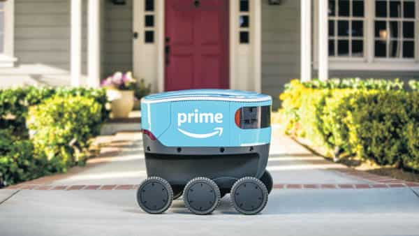 Amazon's self-driving delivery robot Scout.  (Photo: AP)