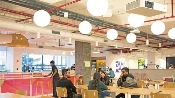 WeWork has 23 co-working centres—nine each in Bengaluru and Mumbai, and five in Gurugram—comprising 39,000 seats.bloomberg