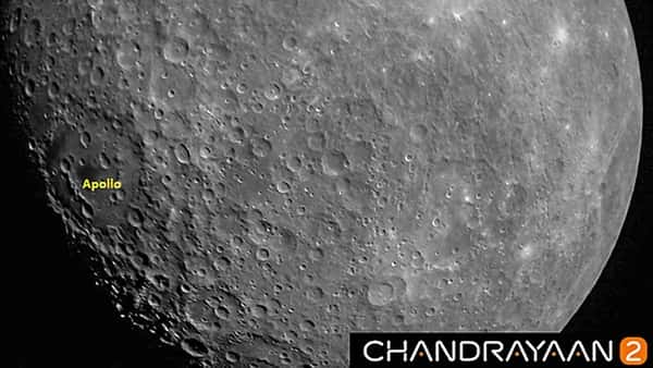 A view of the first Moon image captured by Chandrayaan 2, taken at a height of about 2650 km from Lunar surface.  (PTI)