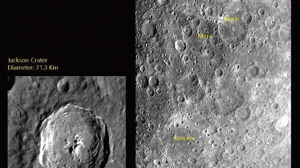 An image of the lunar surface captured by Chandrayaan-2.