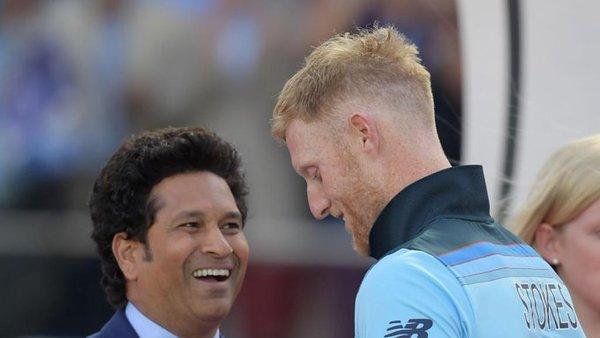 Ben Stokes and Sachin Tendulkar  (@ICC)