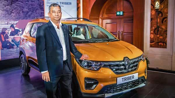 Renault India MD and CEO Venkatram Mamillapalle at the launch of the Triber in New Delhi. (Pradeep Gaur/Mint)