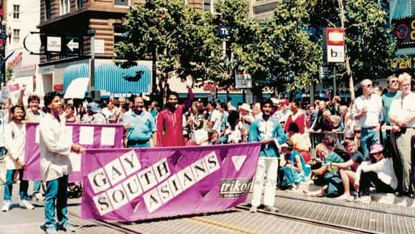 Trikone members marched in the 1986 Pride parade in San Francisco, becoming the first South Asians to participate in such an event.