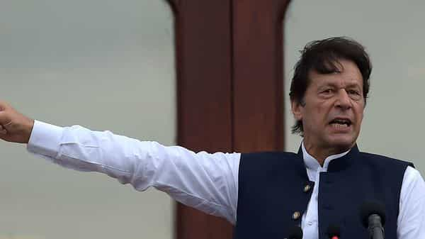 Khan said that all of Pakistan was united against India's 'illegal, unilateral, reckless and coercive attempt to alter the status of occupied Kashmir' and added that his country would never leave Kashmiris alone. (AFP)