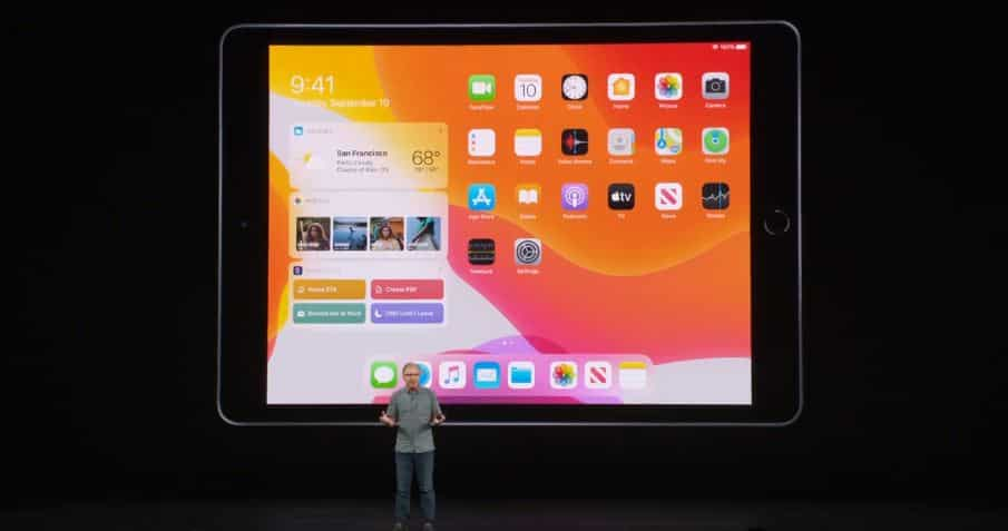 Greg Jozwiak takes the stage to unveil the new 7th gen iPad