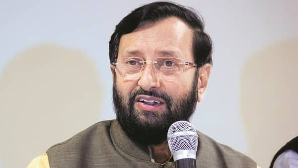 A file photo of I&B minister Prakash Javadekar. These provisions will be implemented from 16 September 2019, and will be carried out in phases over the next five years. (Photo: Hindustan Times)
