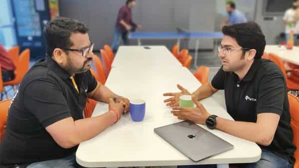 FarEye's COO Gautam Kumar (left) approached Rahul Parihar for a sales director role after looking at his LinkedIn profile.