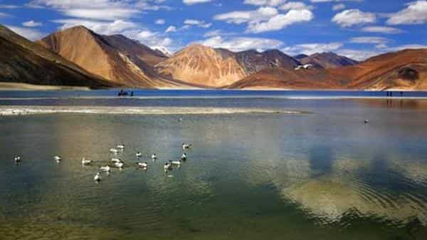 Two-third of Pangong Lake is controlled by China and the remaining by India (AP file)