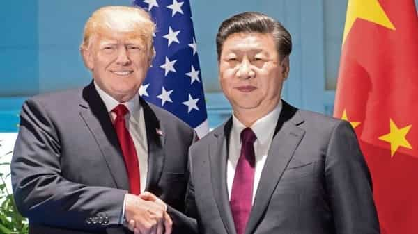 US President Donald Trump with his Chinese counterpart Xi Jinping. (Reuters)