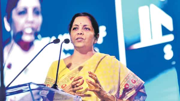 Nirmala Sitharaman said the government has been pressing banks to link borrowing rates to an external benchmark to speed up the transmission of rate cuts (Photo: Mint)
