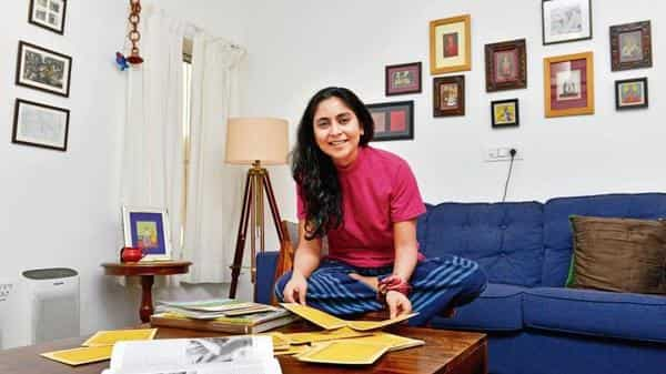 Artist Pallavi Paul at her residence in Delhi (Photo: Ramesh Pathania/Mint)