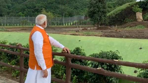 PM Narendra Modi reviews tourism infrastructure at Kevadia. (Twitter: @PMOIndia)