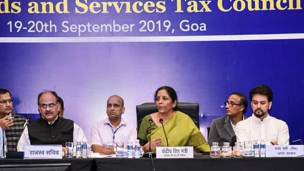 Finance Minister Nirmala Sitharaman during the 37th meeting of the GST Council.  (PTI)