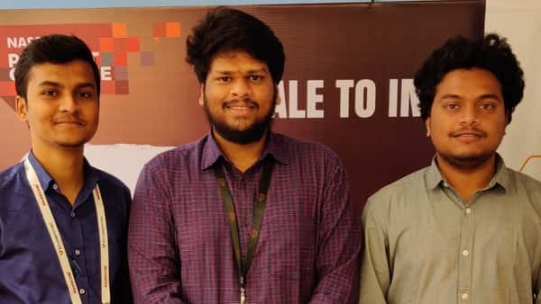 Company CEO/founder Radhakrisha B. (centre) of Augmented Byte is now creating products for indoor navigation.