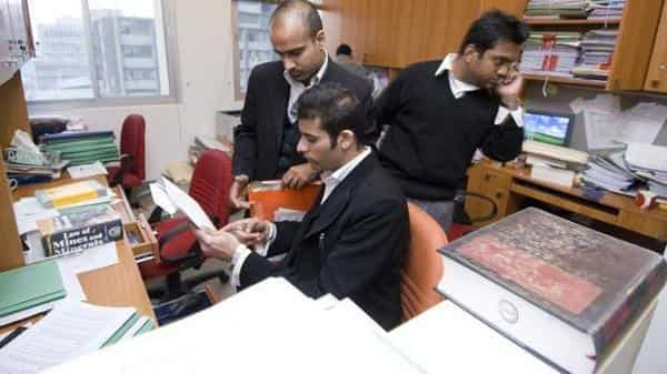 A file photo of lawyers at a law firm in New Delhi (Photo for representational purpose only) (Mint file)
