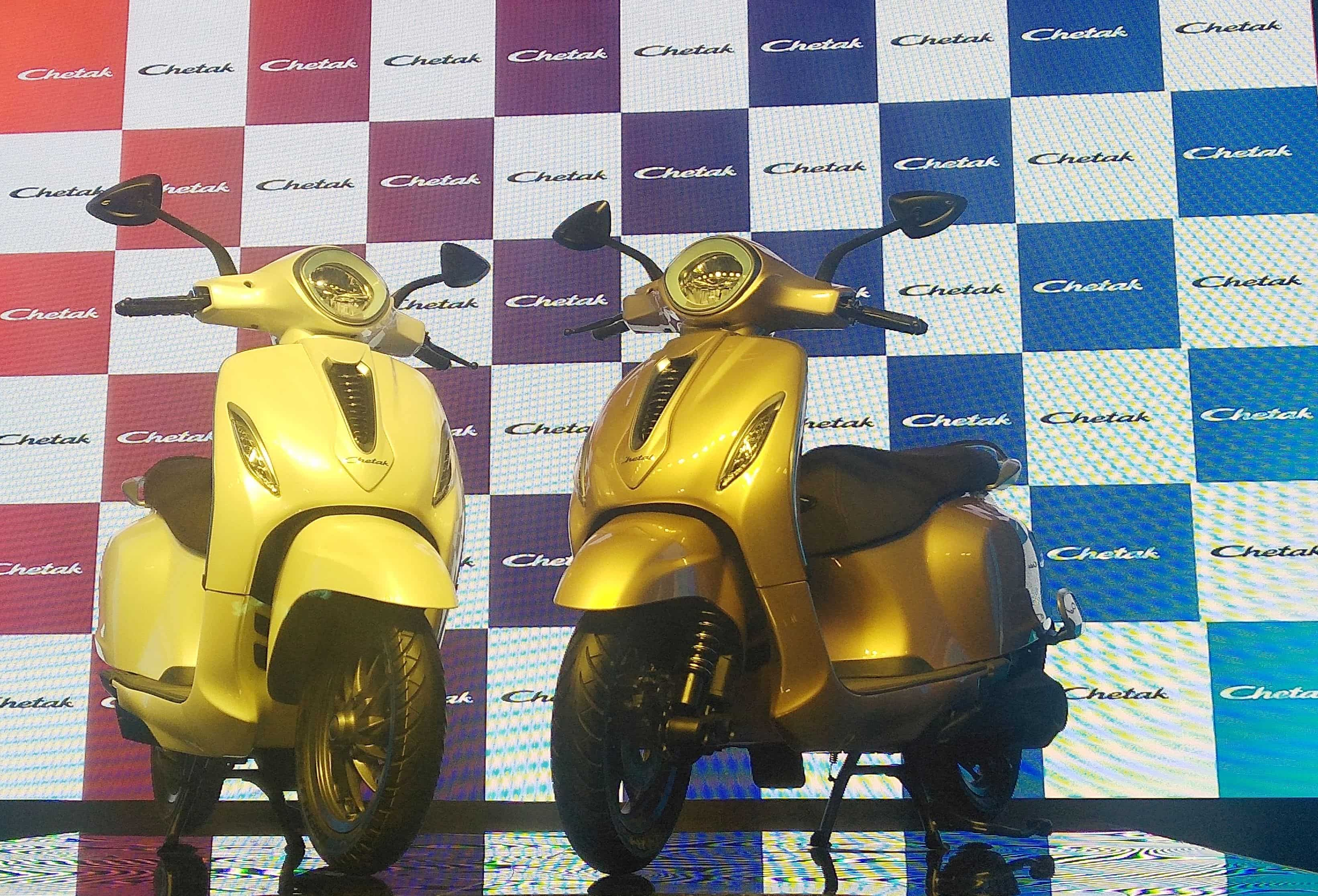 First look at the Bajaj Chetak electric scooter.
