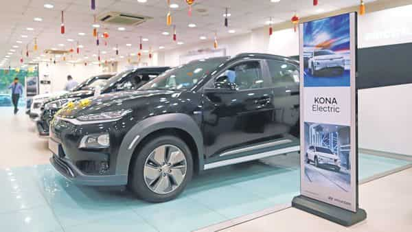 The Kona can travel up to 452km on a single charge (Photo: Bloomberg)
