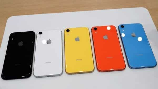 The various colors of Apple iPhone XR. (REUTERS)
