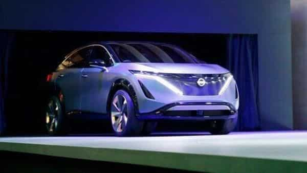 Nissan Motor Company exhibited its Ariya concept, a battery electric crossover (AP file)