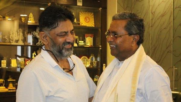 Siddaramaiah meets D.K.Shivakumar in hope to contain reports of rift in Karnataka Congress