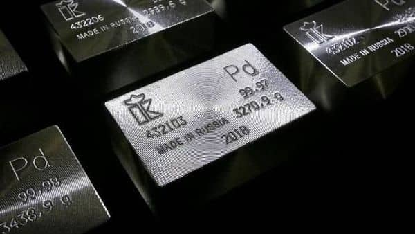 Palladium is used mainly in emissions-reducing auto catalysts for vehicles. Photo: Reuters