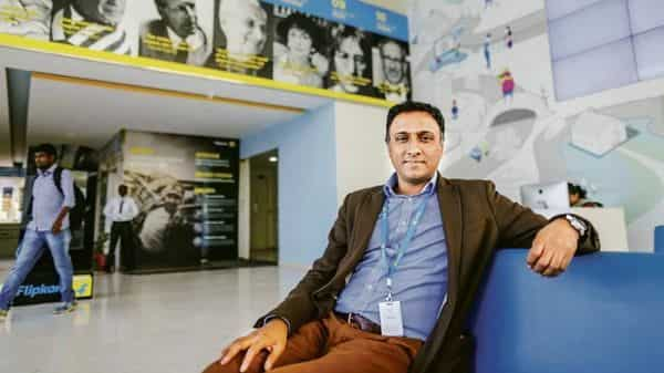 Kalyan Krishnamurthy , Flipkart group chief executive officer. Overall expenses reduced significantly from $6.6 billion in the preceding fiscal year to $2.4 billion in FY19. (Photo: Bloomberg)