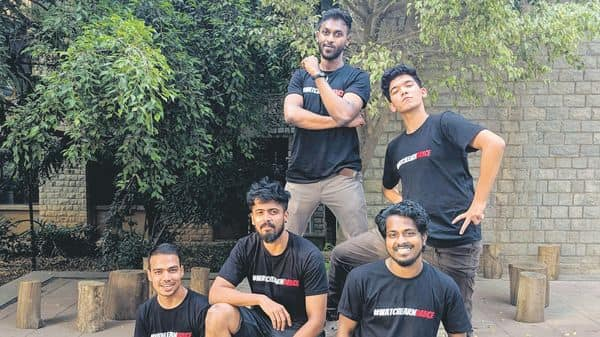 Bharat Kumar (second from left) of TheVerb Studio with his teammates