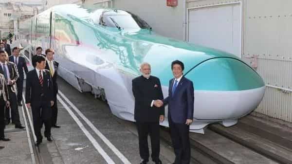 PM Modi and his Japanese counterpart Shinzo Abe had jointly laid the foundation stone for the Bullet train project in Ahmedabad in Sept 2017