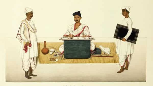 'Artist Portrait' by Yellapah of Vellore circa 1832-35 (Photo courtesy Bloomsbury India)