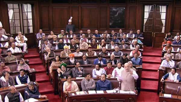 Union Home Minister Amit Shah speaks in Rajya Sabha during the discussions on the Citizenship (Amendment) Bill 2019, during the winter session of Parliament. (ANI )