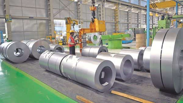 A file photograph of a steel plant. The current level of production at the ESIL plant is about 7.5 mtpa. (Mint )