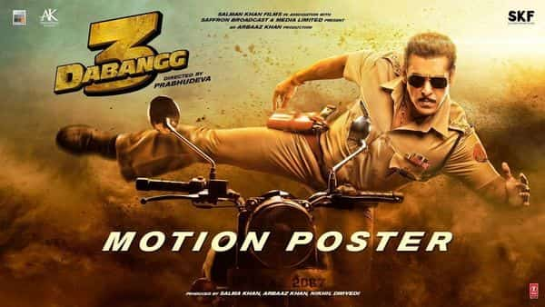 Salman Khan as Chulbul Pandey in a poster for Dabangg 3.