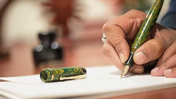 Even though designs of Indian fountain pens aren't remarkably attractive, there is little difference in writing quality between an international brand priced at  ₹3,000 and a Chinese fountain pen brand that costs  ₹700. (Photo: Priyanka Parashar/Mint)