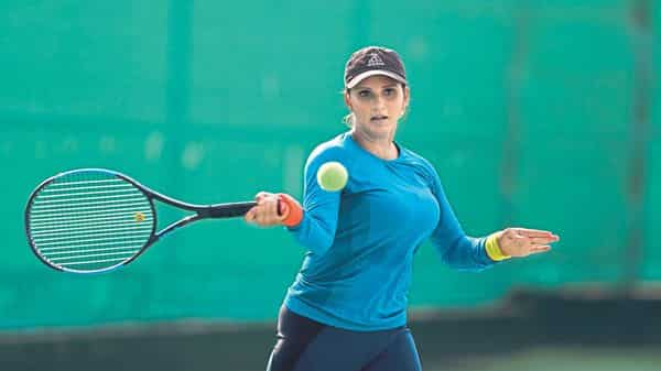 Sania Mirza practising in Hyderabad (Photo: Kumar/Mint)