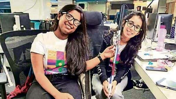 Fourth-year B.Tech students Ishita Agarwal and Ruchika Chugh won top honours at Gojek's SheHack for coming up with a solution for visually impaired people to access their smartphones through gestures with their canes.