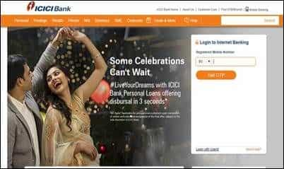 ICICI Bank introduces OTP based log in.
