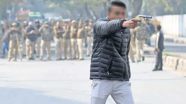 The gunman, believed to be a minor, opened fire at the protesters who were marching towards Rajghat (Photo: Reuters)