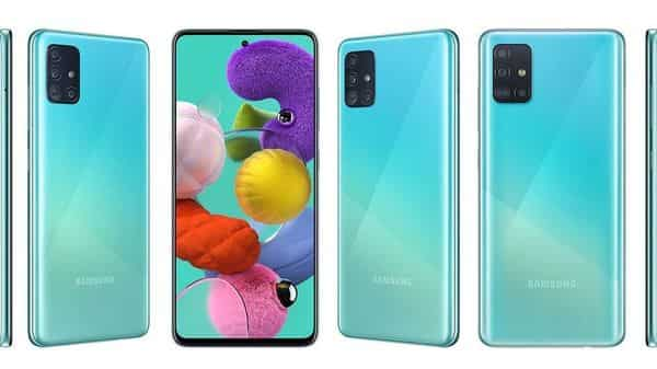 Galaxy A51 will be available in Blue, White and Black Prism Crush colours (Samsung India)