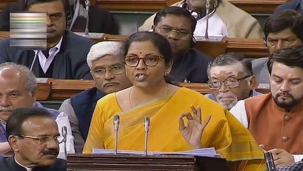 Finance Minister Nirmala Sitharaman presents the Union Budget 2020-21 in the Lok Sabha, in New Delhi, Saturday (Photo: PTI)