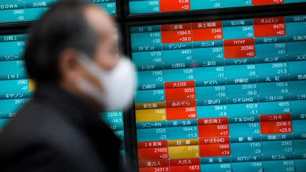 The CSI 300 had slumped 7.9% on Monday as mainland markets traded for the first time since Jan. 23 (AFP)