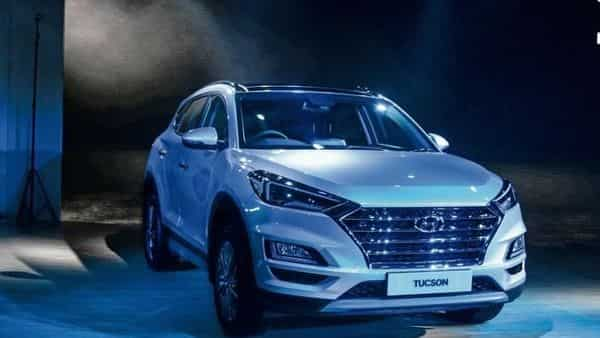 Hyundai launched the Tucson SUV at the Auto Expo in Greater Noida on Wednesday. (Ramesh Pathania/Mint)