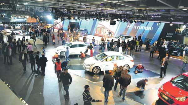 A file photo of Auto Expo 2020 in Greater Noida. Photo: Ramesh Pathania/Mint