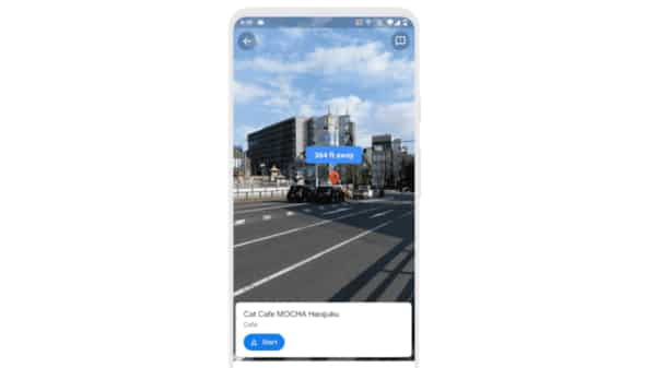 Google Maps' new Live View feature uses augmented reality.  (Google blog)