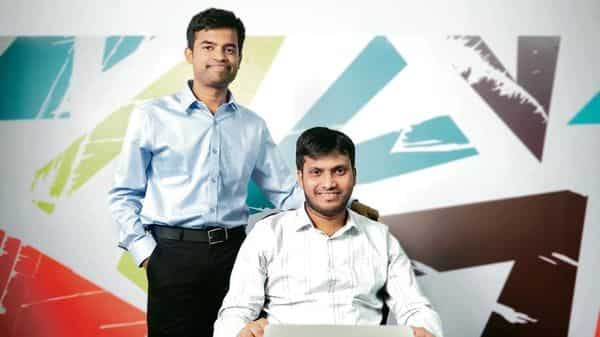 MoEngage co-founders Yashwanth Kumar (left) and Raviteja Dodda. The mobile analytics platform helps firms channelize marketing campaigns via email, SMS and web push notifications with auto-optimization.