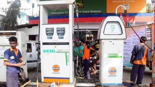 In New Delhi, a litre of petrol is being sold for  ₹71.89, diesel  ₹64.65. In Mumbai, petrol costs  ₹ ₹77.56 a litre and diesel  ₹64.65.