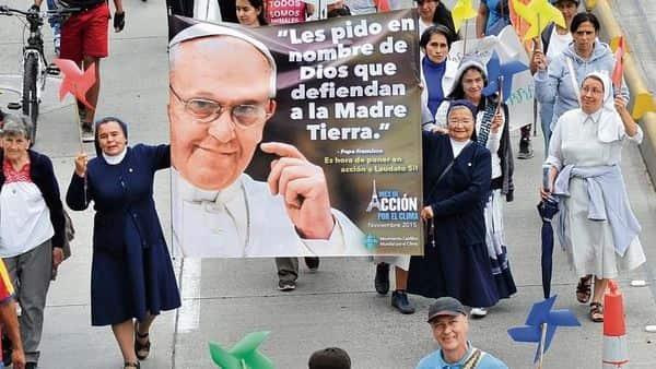 Nuns at the Global Climate March in Bogotá, Colombia