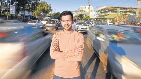 Yash Garg moved to different city because he was tired of wasting time being stuck in traffic while on their way to work. (Photo: Raj Sam/Mint)