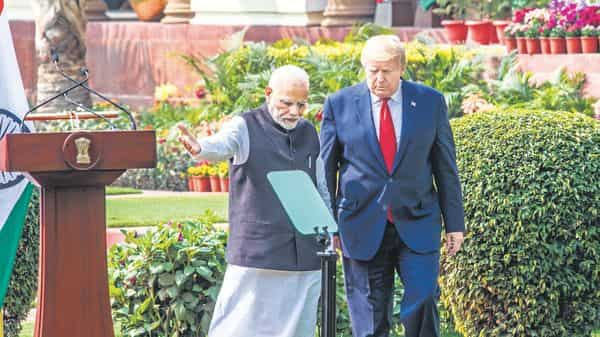 Prime Minister Narendra Modi and US President Donald Trump have asked for legal vetting of a limited trade deal. (MINT_PRINT)