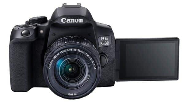 The EOS 850D offers a 24.1MP APS-C size CMOS sensor, EOS intelligent tracking and 4K video recording