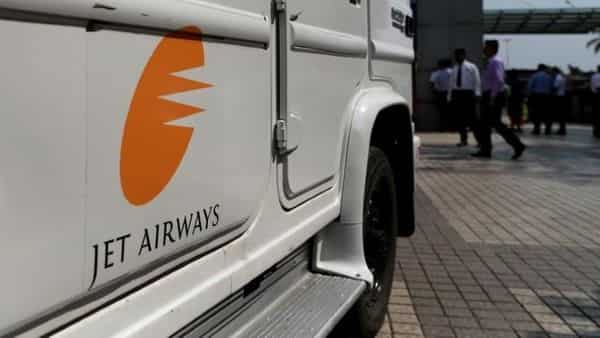 A Jet Airways vehicle leaves the company's headquarters in Mumbai. (Reuters)